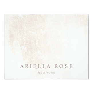 Simple Elegant Brushed White Marble Card