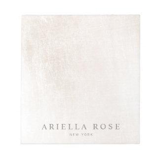 Simple Elegant Brushed White Marble Professiona Notepads