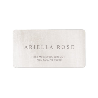 Simple Elegant Brushed White Marble Professional Address Label