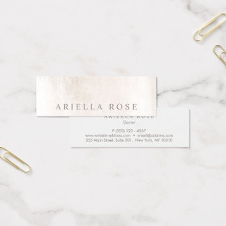 Simple Elegant Brushed White Marble Professional Mini Business Card