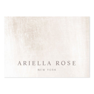 Simple Elegant Brushed White Marble Professional Pack Of Chubby Business Cards
