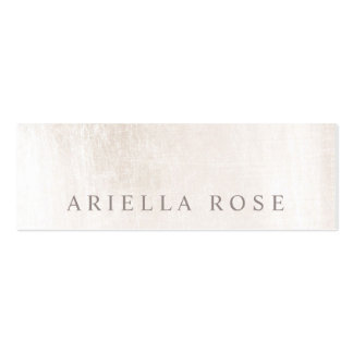 Simple Elegant Brushed White Marble Professional Pack Of Skinny Business Cards