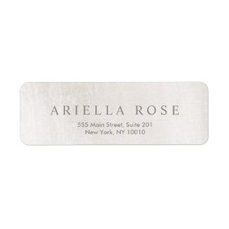 Simple Elegant Brushed White Marble Professional Return Address Label