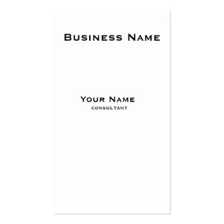Simple elegant classic black and white vertical business card