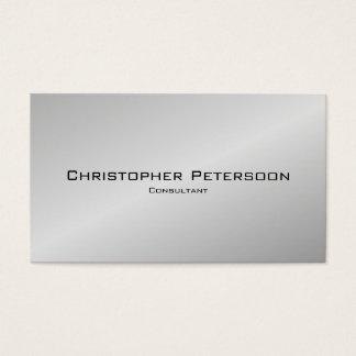 Simple Elegant Classic Silver Black Consultant Business Card