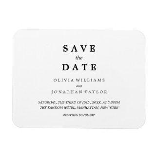 Simple Elegant | Classic Wedding Save The Date Mag Rectangular Photo Magnet
