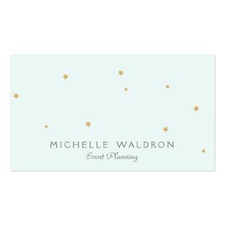 Simple Elegant Cute Stars Event Planner Light Aqua Pack Of Standard Business Cards