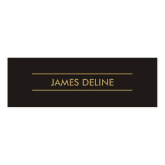 Simple Elegant Dark Grey Gold Lines Consultant Pack Of Skinny Business Cards
