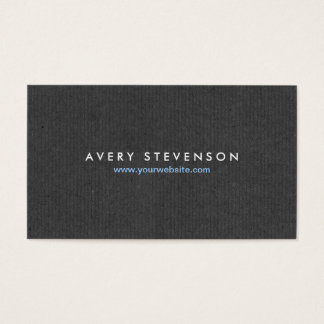 Simple Elegant Entrepreneur Gray Texture Look Business Card