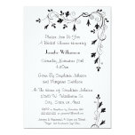 Simple Elegant Floral Swirl Pattern Bridal Shower 13 Cm X 18 Cm Invitation Card