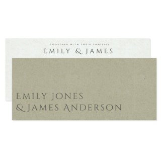 SIMPLE ELEGANT GOLD KRAFT TYPOGRAPHY wedding card