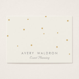 Simple Elegant Gold Star Event Planner Cream White