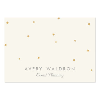 Simple Elegant Gold Star Event Planner Cream White Pack Of Chubby Business Cards