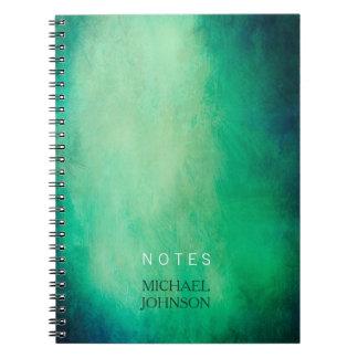 Simple Elegant Green Vintage Paper Custom Name Notebook