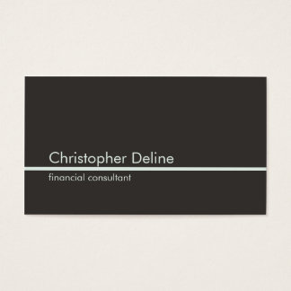 Simple Elegant Grey Light Blue Line Consultant Business Card