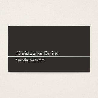 Simple Elegant Grey Light Blue Line Consultant Business Card