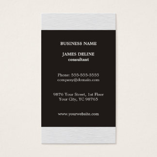 Simple Elegant Grey Texture White Consultant Business Card