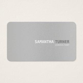 Simple Elegant Grey Textured Professional Custom Business Card