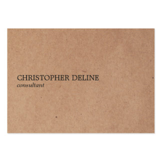Simple Elegant Kraft Paper Consultant Pack Of Chubby Business Cards