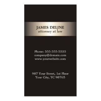 Simple Elegant Metal Grey Attorney Pack Of Standard Business Cards