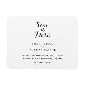 Simple Elegant | Modern  Save The Date Magnet
