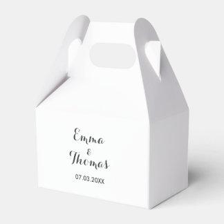 Simple Elegant | Modern Wedding Favor Box