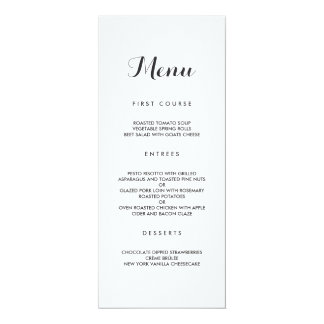 Simple Elegant | Modern Wedding Menu Card