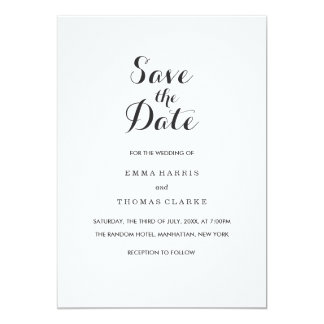 Simple Elegant | Modern Wedding Save The Date Card