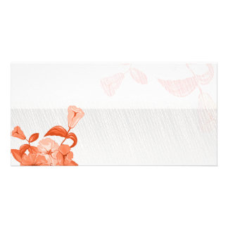 Simple Elegant Orange blossom Photo Card