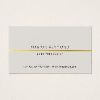 simple elegant pale gray professional business card