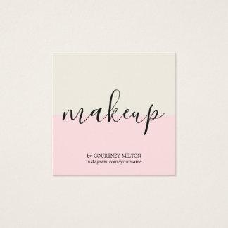 Simple Elegant Pastel Makeup Artist Square Business Card