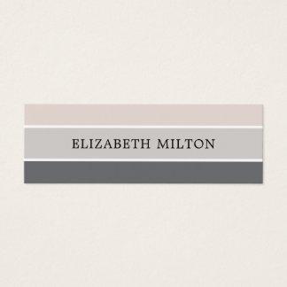 Simple Elegant Pastel Stripes Consultant Mini Business Card