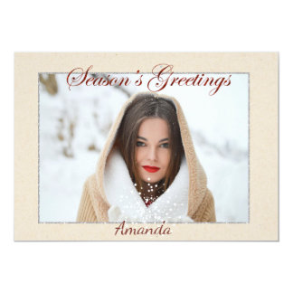 Simple Elegant Photo Christmas Card