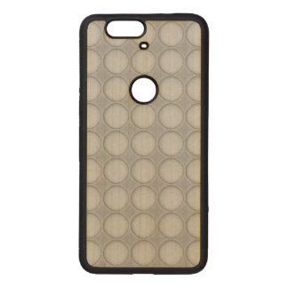 Simple Elegant Polka Dot Wood Nexus 6P Case