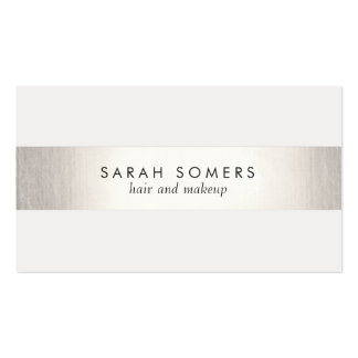 Simple Elegant Silver Striped NOT REAL FOIL Business Cards