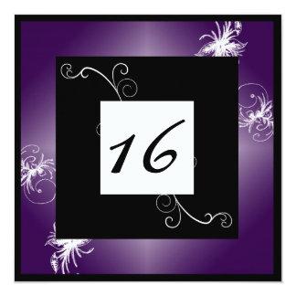 SImple Elegant Sweet 16 Invite (Purple)