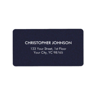 Simple Elegant Texture Blue White Masculine Address Label