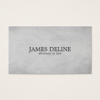 Simple Elegant Texture Grey Attorney at Law Business Card
