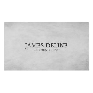Simple Elegant Texture Grey Attorney at Law Pack Of Standard Business Cards