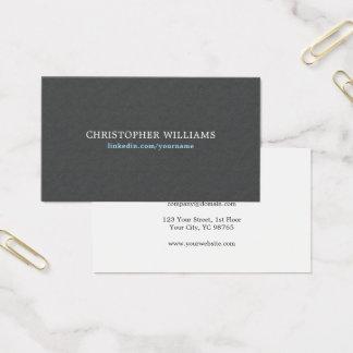 Simple Elegant Texture Grey Blue Consultant Business Card
