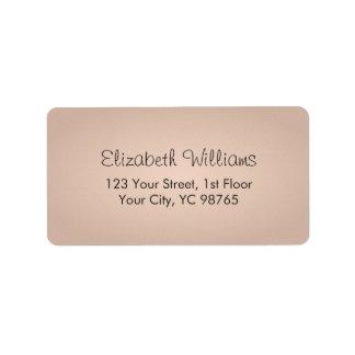 Simple Elegant Texture Rose Label Address Label