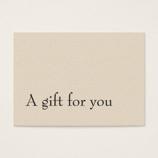 Simple Elegant Texture Skin Care Gift Certificate