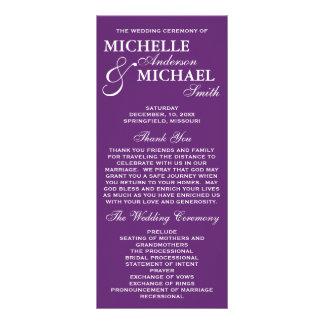 Simple Elegant Wedding Program Full Color Rack Card