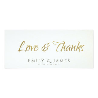 SIMPLE ELEGANT WHITE GREY TYPOGRAPHY Thank You Card