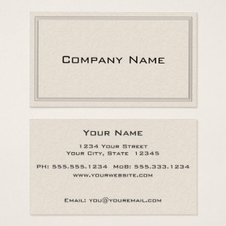 Simple Embossed Floral Border Business Card