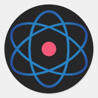 Simple Emoji Atom Classic Round Sticker