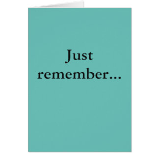 Simple Encouragement Greeting Card