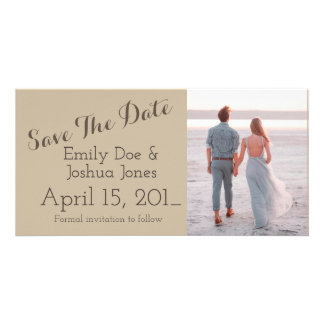 Simple Engagement Announcement Save the Date Card