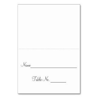 Simple Escort Card Table Card