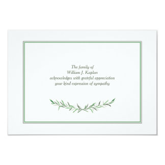 Simple Expression Sympathy Thank You Card